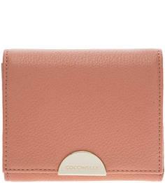 Кожаный кошелек кораллового цвета Half Coccinelle