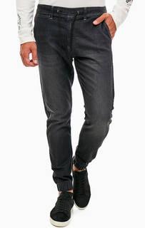 Серые брюки джоггеры из денима Pepe Jeans