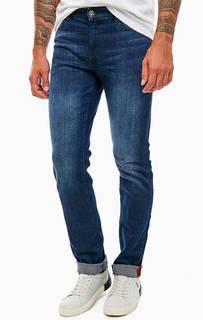 Джинсы прямого кроя с заломами 380 Icon Trussardi Jeans