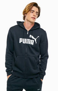 Черная толстовка с логотипом бренда Puma