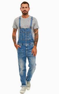 Джинсовый комбинезон с заломами Pepe Jeans