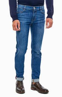 Зауженные джинсы с заломами 370 close Trussardi Jeans
