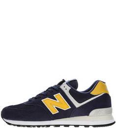 Синие кроссовки из замши и текстиля 574 New Balance
