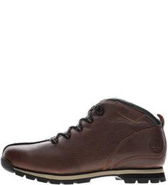 Коричневые кожаные ботинки Timberland
