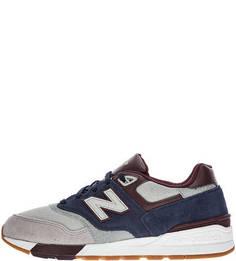 Трехцветные кроссовки с вкладной стелькой 597 New Balance