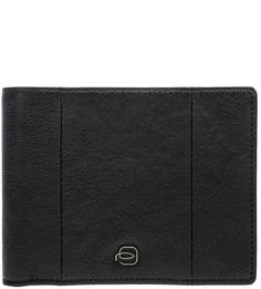 Черное кожаное портмоне с двумя отделами для купюр Piquadro