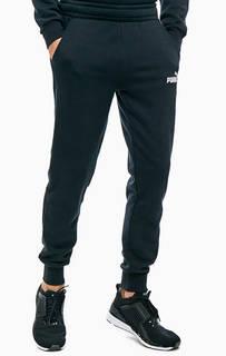 Черные хлопковые джоггеры с логотипом бренда Puma