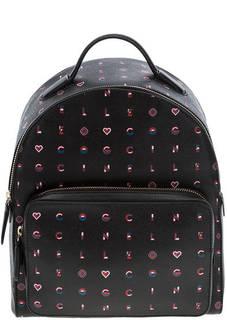 Кожаный рюкзак на молнии Clementine Logotype Print Coccinelle