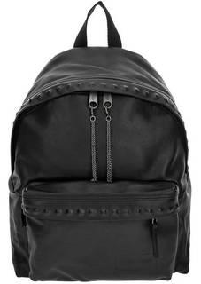 Черный рюкзак из натуральной кожи Eastpak
