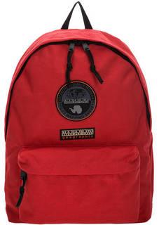 Красный текстильный рюкзак с нашивками Napapijri