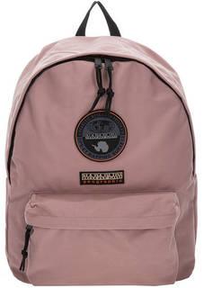 Розовый текстильный рюкзак с нашивками Napapijri