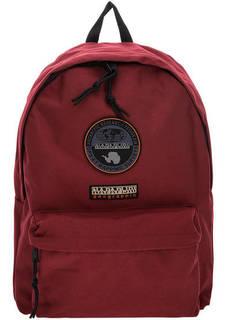 Бордовый текстильный рюкзак с нашивками Napapijri