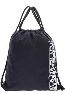 Синий текстильный рюкзак с логотипом бренда Napapijri