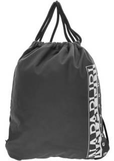 Серый текстильный рюкзак с логотипом бренда Napapijri