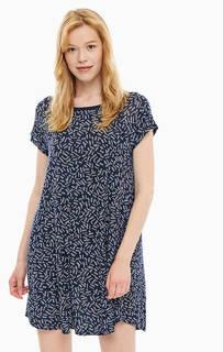 Короткое расклешенное платье синего цвета Dkny