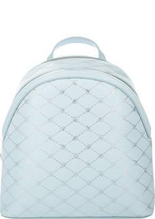 Голубой кожаный рюкзак Blumarine