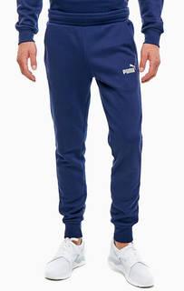 Синие хлопковые джоггеры с логотипом бренда Puma