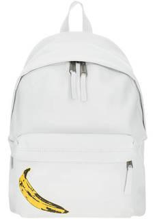 Белый рюкзак из натуральной кожи Eastpak