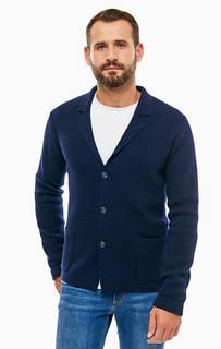 Шерстяной кардиган с карманами Trussardi Jeans