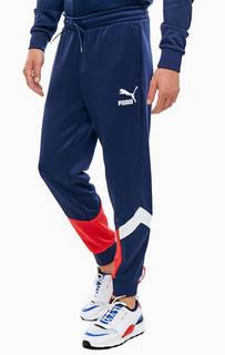 Трикотажные брюки джоггеры с контрастными вставками Puma
