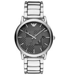 Часы с монограммой бренда на циферблате Emporio Armani