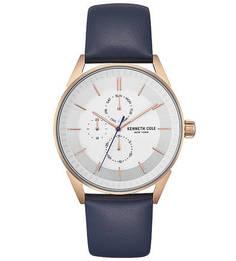 Часы с синим кожаным браслетом DRESS SPORT Kenneth Cole