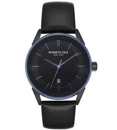Кварцевые часы с браслетом из натуральной кожи CLASSIC Kenneth Cole