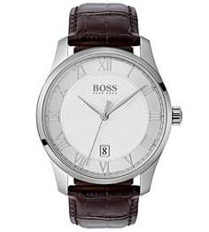 Кварцевые часы с кожаным ремешком с выделкой под рептилию Hugo Boss