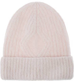Розовая шапка из ангоры Canoe