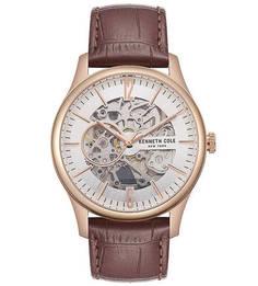 Часы с кожаным браслетом с выделкой под рептилию Automatic Kenneth Cole