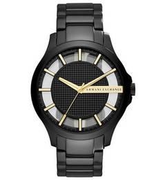 Часы с прозрачным циферблатом круглой формы Armani Exchange