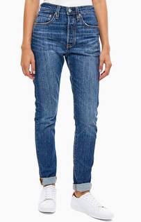 Синие джинсы на болтах 501 Skinny Levis