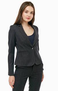 Короткий черный пиджак в полоску Liu Jo