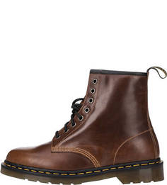 Высокие кожаные ботинки коричневого цвета Dr Martens