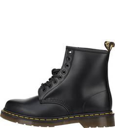 Высокие кожаные ботинки черного цвета Dr Martens