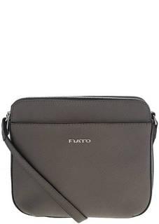 Маленькая серая сумка из сафьяновой кожи Fiato