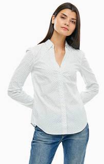 Хлопковая рубашка с треугольным вырезом Marc Opolo