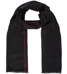 Синий шарф из хлопка и шерсти Marc Opolo