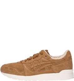 Замшевые кроссовки коричневого цвета Asics