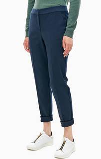 Зауженные брюки синего цвета Stefanel