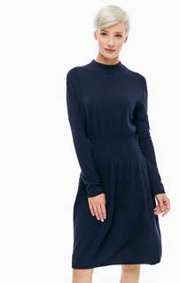 Синее платье с расклешенной юбкой Stefanel