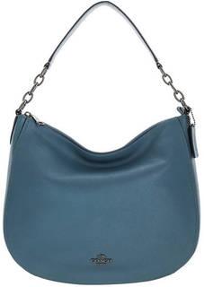 Кожаная сумка синего цвета Chelsea Coach