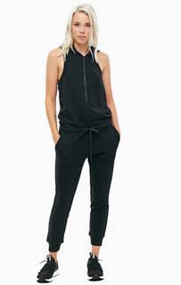Черный хлопковый комбинезон с брюками Dkny