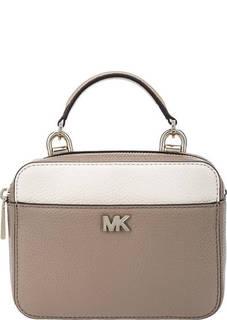 Кожаная сумка с широким плечевым ремнем Mott Mini Michael Kors