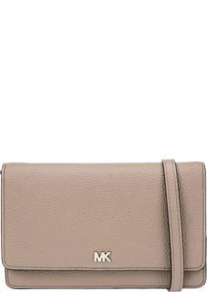 Кожаная сумка-кошелек с отделением для смартфона Crossbody Michael Kors