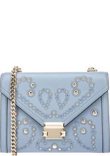 Кожаная сумка с декоративной отделкой Whitney Michael Kors