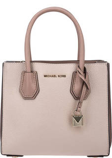 Маленькая кожаная сумка с двумя отделами Mercer Michael Kors