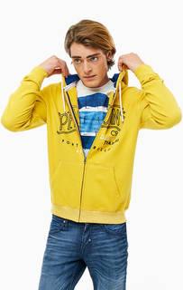 Хлопковая толстовка на молнии с вышивкой Pepe Jeans