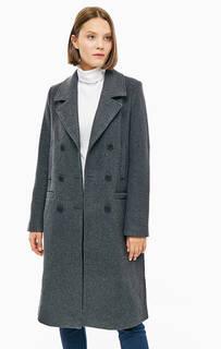 Серое шерстяное пальто с карманами TOM Tailor