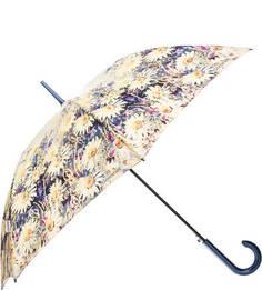 Зонт-трость с цветочным принтом Goroshek
